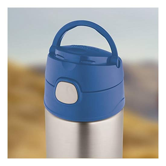 膳魔师 Thermos 12 Ounce Funtainer Bottle, Blue