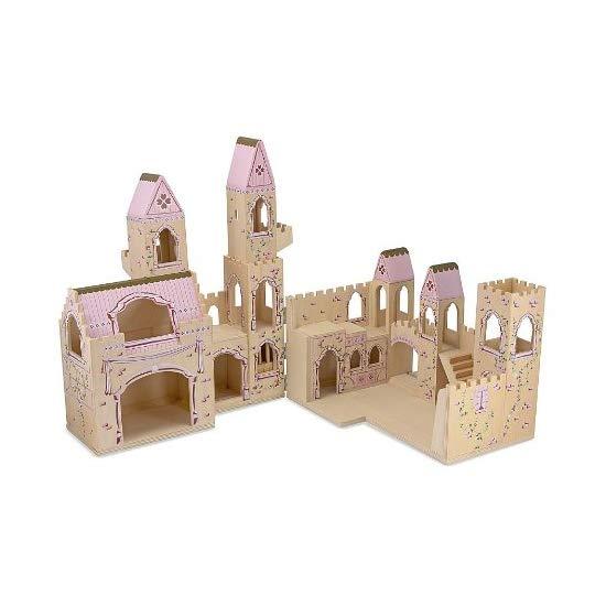 Melissa  Doug 折叠公主城堡