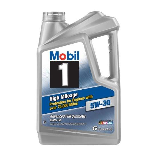美孚一号 Mobil 1 (120847) High Mileage 5W-30 Motor Oil - 5 Quart