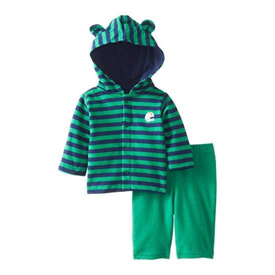 Gerber 嘉宝 宝宝纯棉连帽衫和裤子套装