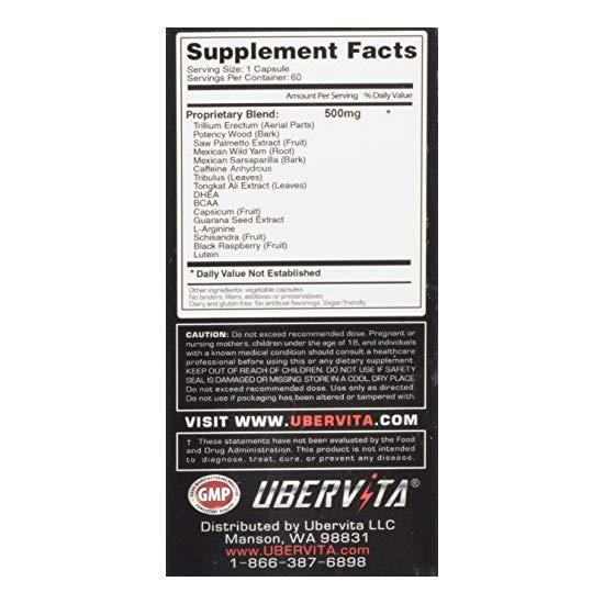 Ubervita 男性睾酮素补充胶囊