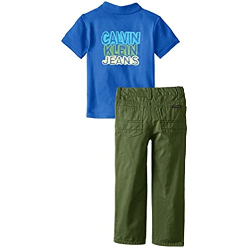 Calvin Klein 卡尔文·克莱恩 男孩夏季POLO衫套装