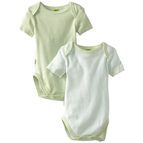 Kushies Unisexbaby Newborn Everyday Mocha Layette 婴儿短袖连体衣