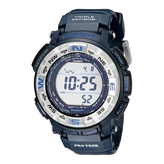 CASIO 卡西欧 PRG-260-2CR 三重感应器 太阳能多功能手表