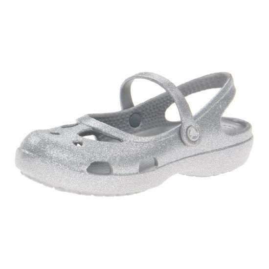 Crocs 卡洛驰 女童带闪粉凉鞋