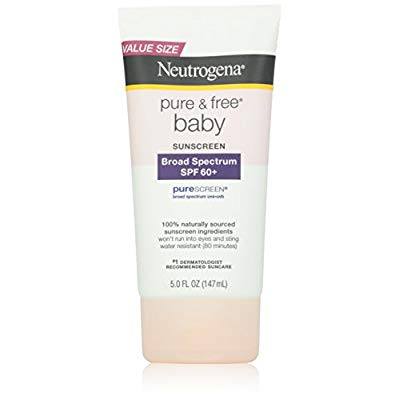 Neutrogena Pure and Free Baby Sunscreen, SPF 60, 5 Ounce