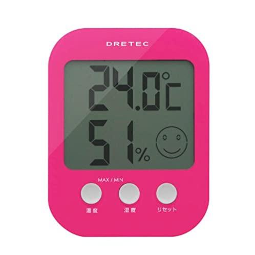 DRETEC デジタル温湿度計 「オプシス」 ピンク O-230PK