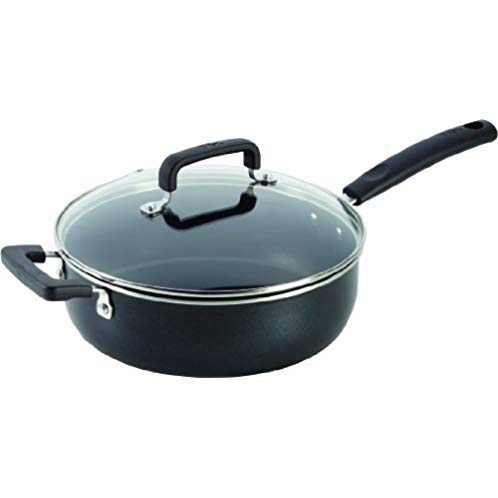 T-fal C1193364 Signature Nonstick Expert Easy Clean Interior Thermo-Spot Heat Indicator Dishwasher Safe Oven Safe Jumbo Cooker with Glass Lid Cover Cookware, 10-Inch / 4.2-Quart, Black