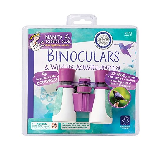 Educational Insights Nancy B's Science Club Binoculars And Wildlife Activity Journal