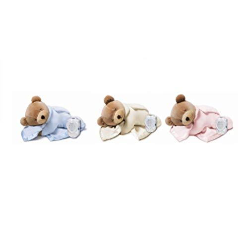 Prince Lionheart Original Slumber Bear with Silkie Blanket - Blue