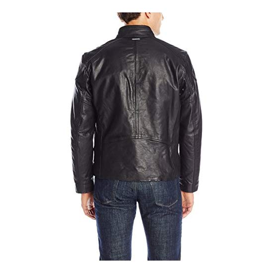 Marc New York by Andrew Marc Men's Mac Calf-Leather Moto Jacket