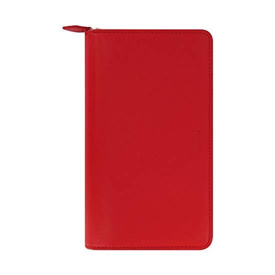 Filofax 2017 Compact Organizer, Saffiano Zip Poppy, Paper Size 6.75 x 3.75 inches (C022534-17)