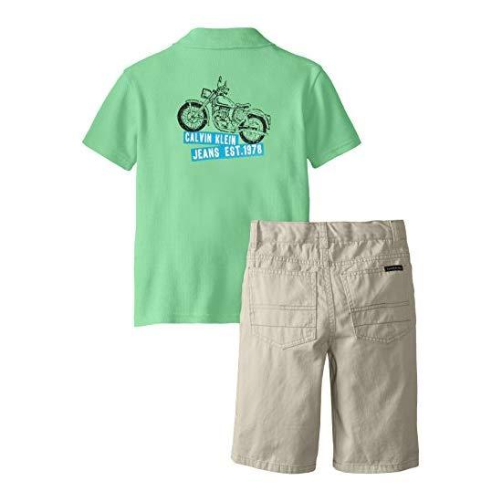 Calvin Klein 卡尔文·克莱恩 男童  POLO 衫+短裤套装