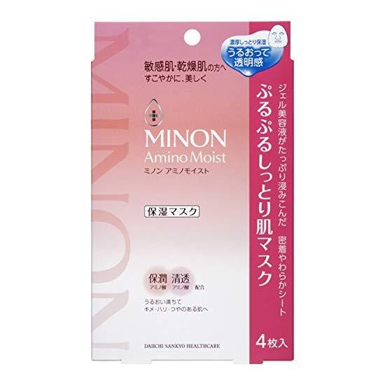MINON 氨基酸保湿面膜 敏感干燥肌4片 啫哩状