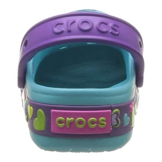 Crocs 酷闪系列蝴蝶图案 儿童洞洞鞋