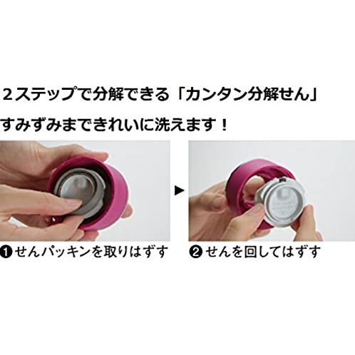 象印 水筒 直飲み ステンレスマグ 600ml ディープチェリー SM-LA60-PV