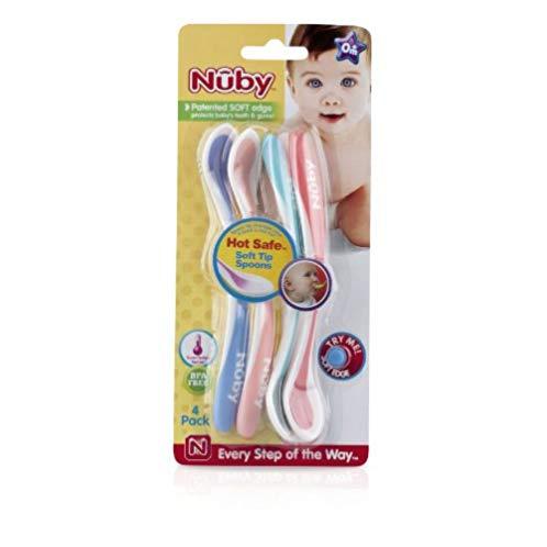Nuby 温度感知变色小勺 四个装