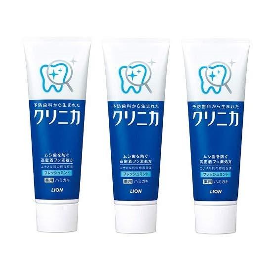 LION 狮王 CLINICA 酵素清新薄荷洁净牙膏 130g*3支
