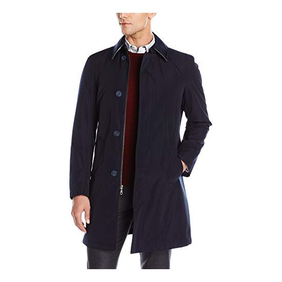 Calvin Klein Men's Marquez Slim Fit Single Breasted Trenchcoat