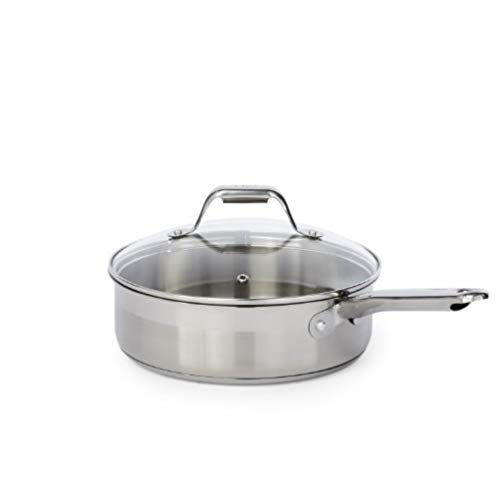 T-fal C771SF Elegance Stainless Steel Cookware Set, 15-Piece, Silver