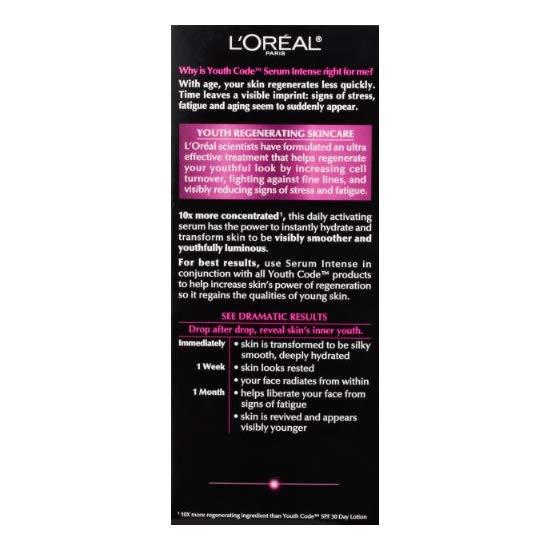 L\'OREAL PARIS 巴黎欧莱雅 Youth Code 青春密码 精华肌底液