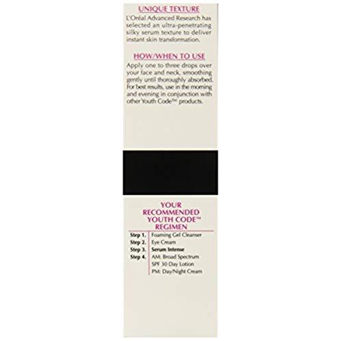 L'Oreal Paris Youth Code Regenerating Skincare Serum Intense Daily Treatment, 1-Fluid Ounce