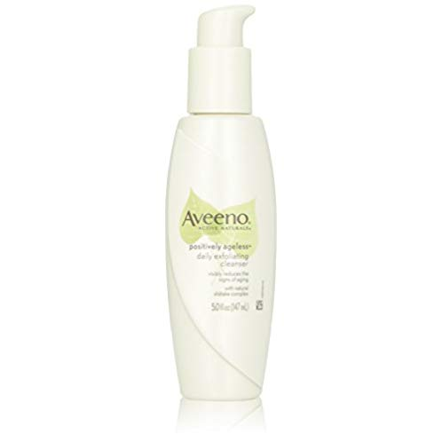 Aveeno Active Naturals Positively Ageless Daily Exfoliating Cleanser With Natural Shiitake Complex, 5 Ounce