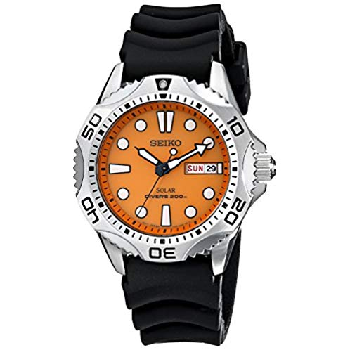 Seiko Men's SNE109 Stainless Steel Solar Dive Watch