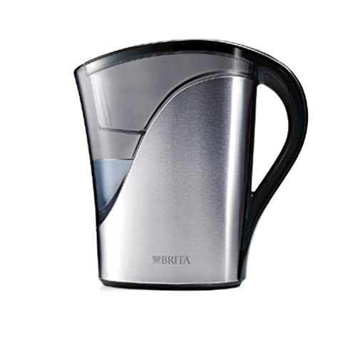 Brita Stainless Steel Water Filter Pitcher, 8 Cup