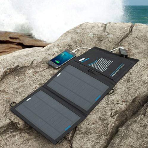 Anker® 8W Portable Foldable Outdoor Solar Charger with PowerIQ™ Technology (Black)
