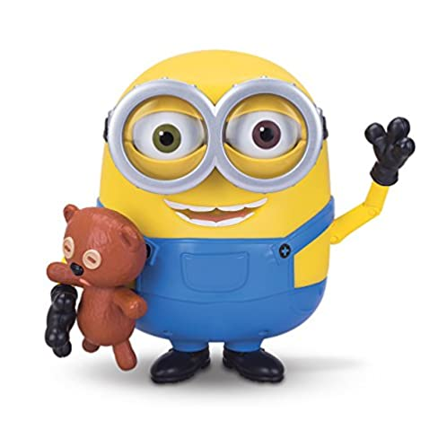 Despicable me 卑鄙的我 Minions Bob Interacts with Teddy Bear 抱泰迪的小黄人