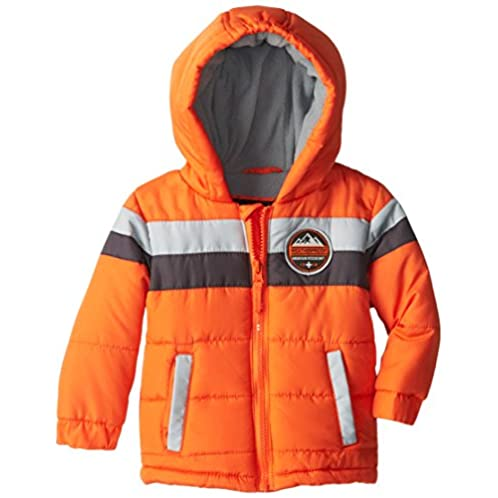 Weatherproof Baby-Boys Infant Pongee Colorblock Jacket with Attached Hood