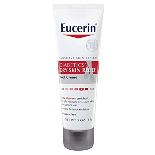 Eucerin Diabetics' Dry Skin Relief Foot Creme, 3 Ounce (Pack of 3)