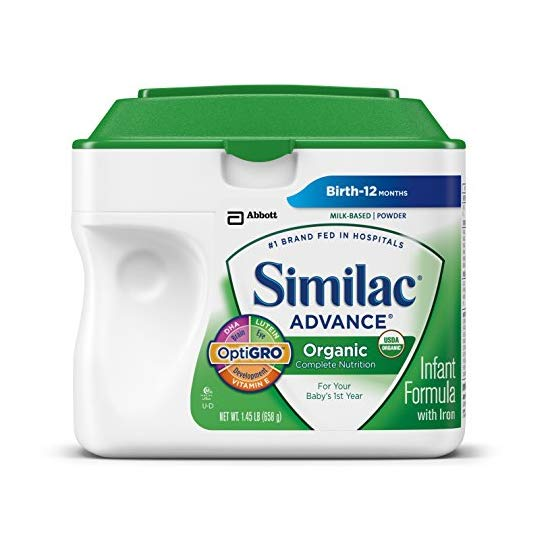Similac Advance Organic Infant Formula with Iron, Powder, 23.2 Ounces (Pack of 6) (Packaging May Vary)