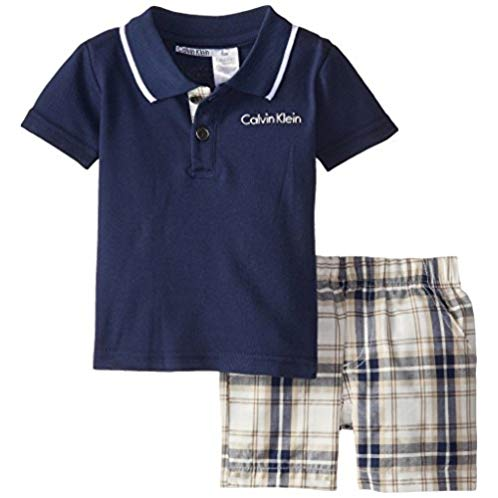 Calvin Klein Baby Boys' Navy Polo Top with Shorts