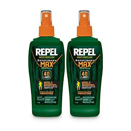 REPEL HG-24101 6 oz Sportsmen Max Insect Repellent 40-Percent DEET Pump Spray, Twin Pack