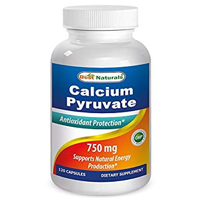 #1 Calcium Pyruvate 750 mg 120 Capsules by Best Naturals (Pack of 3)