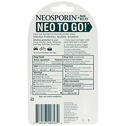 NEOSPORIN First Aid Antiseptic Foam 儿童伤口消炎止痛喷雾