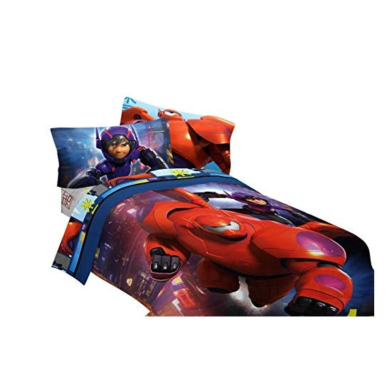 Disney Big Hero 6 72 by 86-Inch Microfiber Comforter, Twin/Full