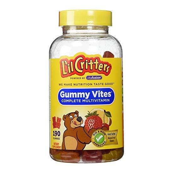 Lil Critters Gummy Vites 小熊糖 儿童复合维生素水果软糖 190粒 两瓶
