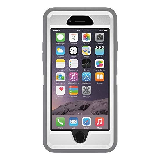 OtterBox iPhone 6 Case - Defender Series, Retail Packaging - Glacier (White/Gunmetal Grey) (4.7 inch)