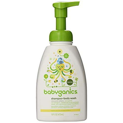 Babyganics Baby Shampoo + Body Wash, Chamomile Verbena, 16oz Pump Bottle (Pack of 3)
