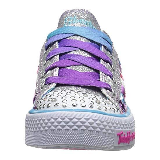 412389e28c4a ... Skechers Kids 10455L Twinkle Toes Shuffles Light-Up Sneaker (Little Kid Big  Kid ...