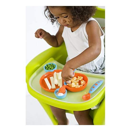 Boon Groovy Interlocking Plate & Bowl with Modware,Blue/Orange