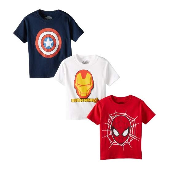 Marvel Little Boys' Logo Tee 3 Pack