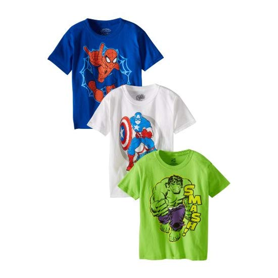 Marvel Little Boys' Character Tee 3 Pack