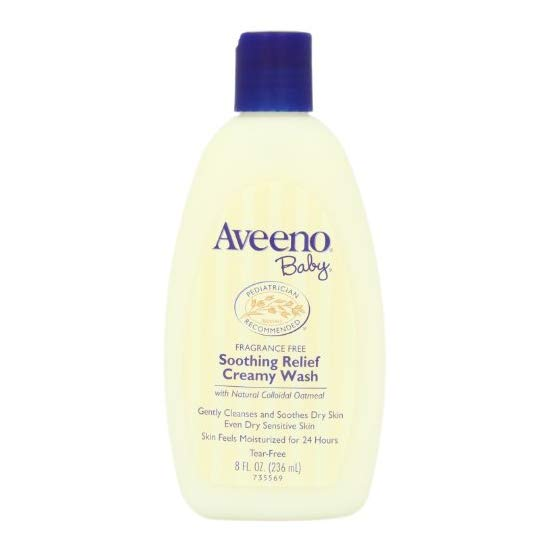 Aveeno Baby Soothing Relief Cream Wash 婴儿燕麦舒缓保湿霜