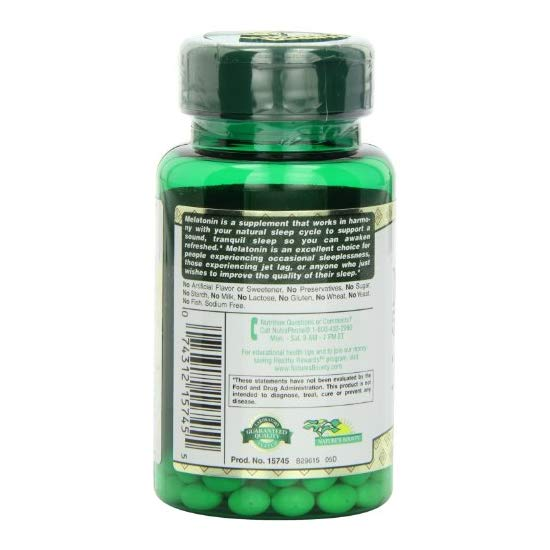 Nature's Bounty Melatonin 5mg, 60 Softgels (Pack of 3)
