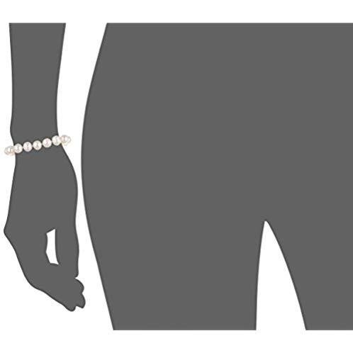 White Freshwater Cultured Pearl Neckalce, Bracelet and Stud Earrings 3-Piece Base Metal Set (8-8.5mm), 18