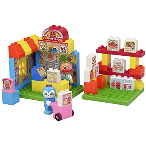 万代 BANDAI  玩具 BlockLabo 面包超人Pinocchio 超市场景 桶装拼插益智积木